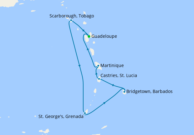 Lesser Antilles from Guadeloupe