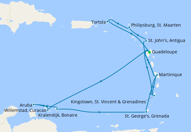 Lesser Antilles & Virgin Islands from Guadeloupe