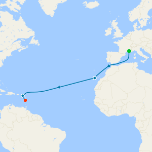 Mediterranean to the Caribbean from Marseille to Martinique