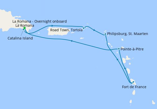 La Romana - Overnight onboard
