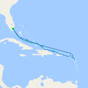 Eastern Caribbean from Miami