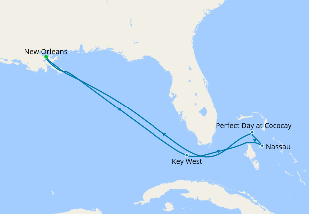 Perfect Day Bahamas Cruise from New Orleans