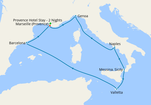 Mediterranean from Marseille with Provence Stay, 30 April ...