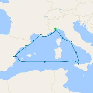 Italy, France & Spain from Savona