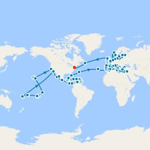Around the World in 180 Days - Los Angeles to New York World Cruise