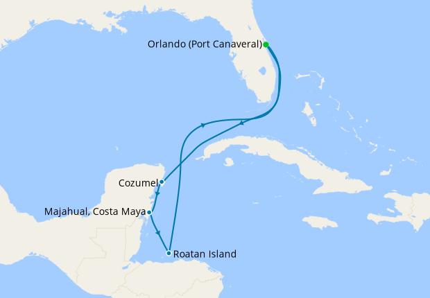 Western Caribbean from Orlando
