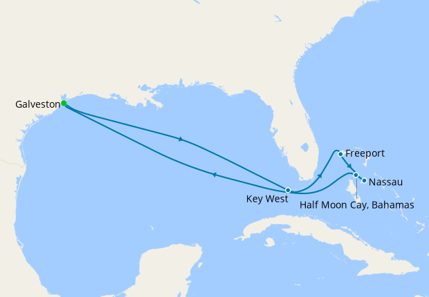 Eastern Caribbean from Galveston