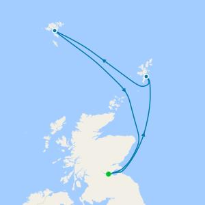 Scotland & Faroes Islands from Edinburgh