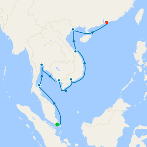 Southeast Asia Sojourn from Singapore to Hong Kong with Stays