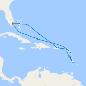 Atlantic & Amber Gems - Miami Roundtrip with Stay