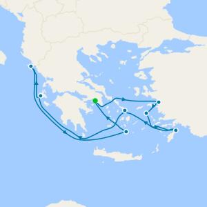 Santorini, Mykonos & Rhodes from Athens