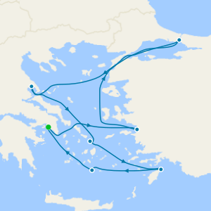 Santorini, Mykonos & Istanbul from Athens