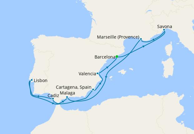 Mediterranean from Barcelona