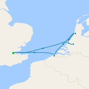 Hamburg to Holland from Dover