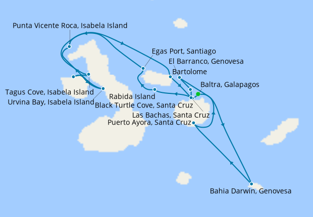 Galapagos Northern Loop Expedition with Quito Stays