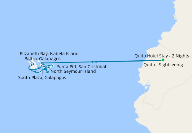 Galapagos Southern Loop Expedition with Quito Stays