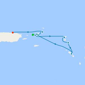 Charlotte Amalie, St. Thomas to San Juan