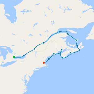 St. Lawrence River & Nova Scotia from Toronto