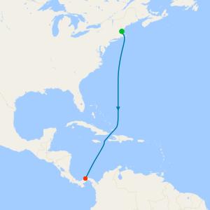 Atlantic from Boston to Colon