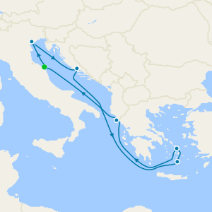 Italy, Croatia & Greece from Ancona