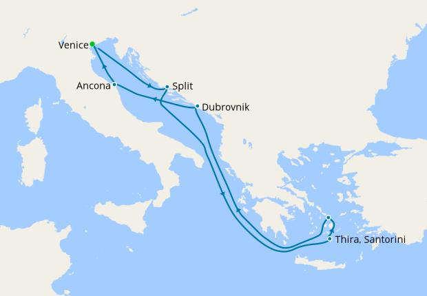 Italy, Croatia & Greece from Venice
