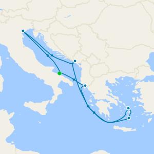 Italy, Montenegro, Greece & Albania from Bari