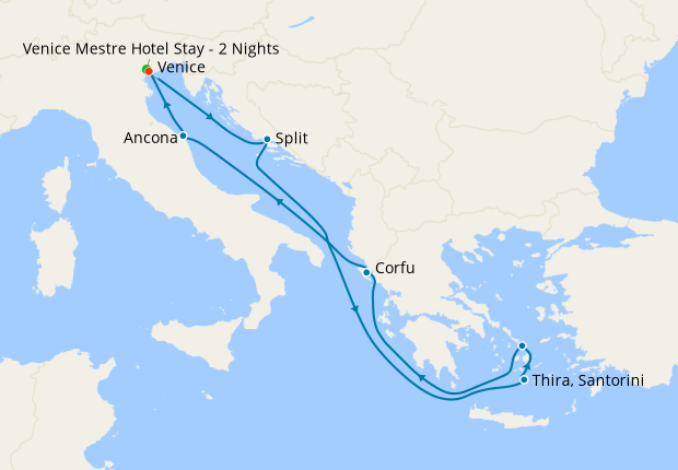 Italy, Croatia & Greece from Venice with Stay