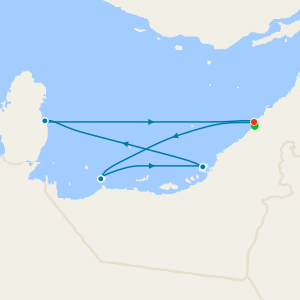 Desert Dunes in Dubai, United Arab Emirates, Bahrain & Qatar with Stay
