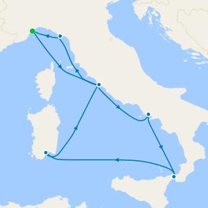 Italy, France, Spain & Balearic Islands from Savona