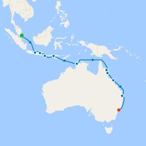 Sydney, Bali, Komodo & Cairns from Singapore
