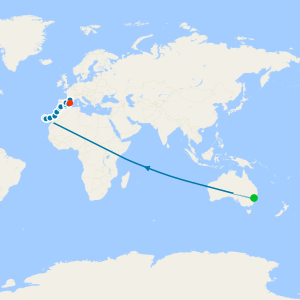 Great Barrier Reef & Balinese Beaches from Sydney to Singapore