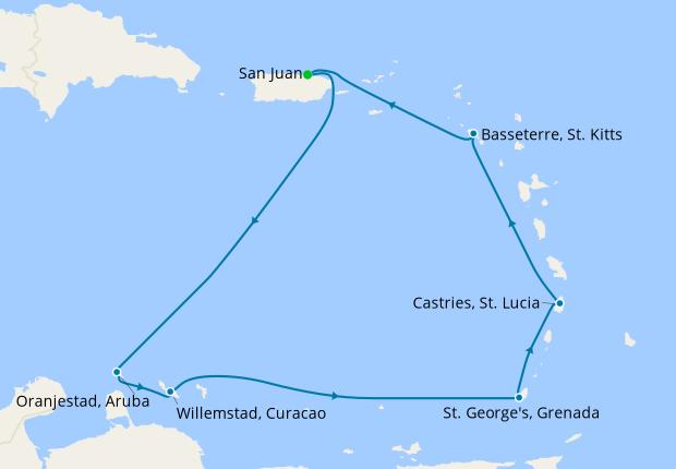 Southern Caribbean from San Juan