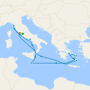 Greek Isles & Italy from Rome with Stay