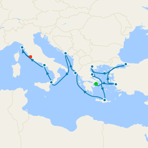 Greek Isles & Italy from Athens