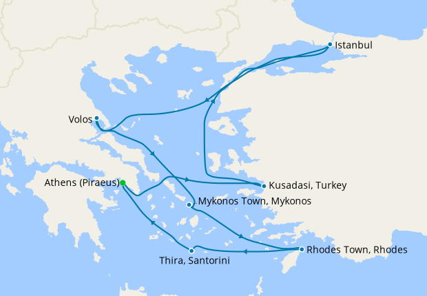 Easter Greek Isles & Turkey from Athens