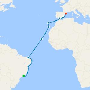Transatlantic from Rio de Janeiro to Barcelona