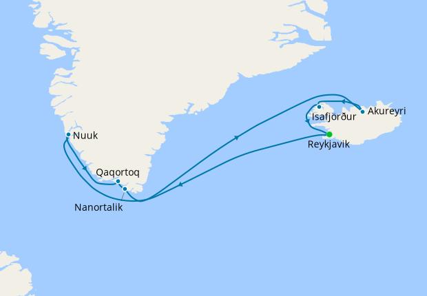Iceland & Greenland from Reykjavik