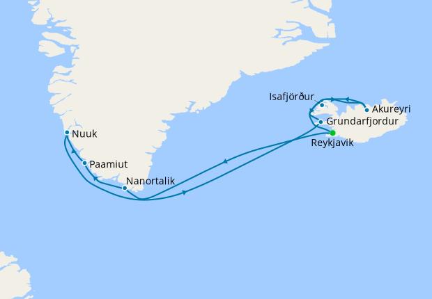 Greenland & Iceland from Reykjavik