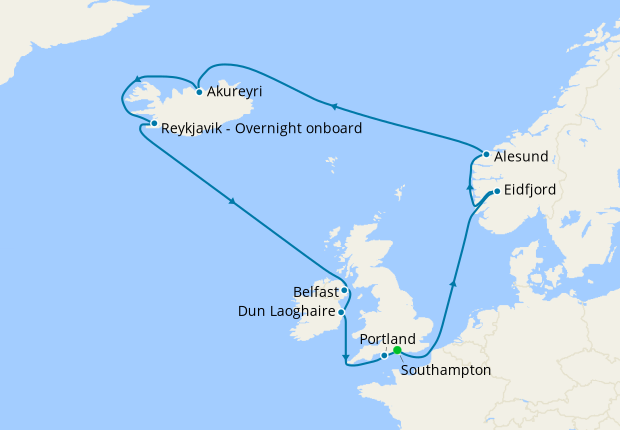 Norway, Iceland & British Isles from Southampton