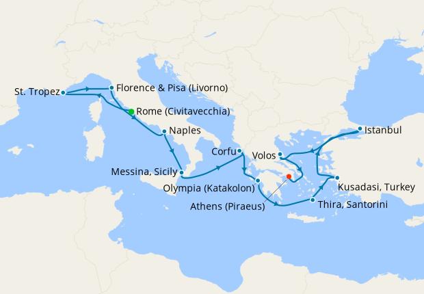Greek Isles & Italy from Rome