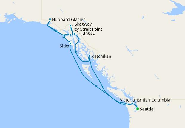 Alaska & Canada from Seattle