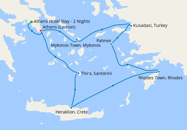 Iconic Aegean from Athens with 2nt Stay