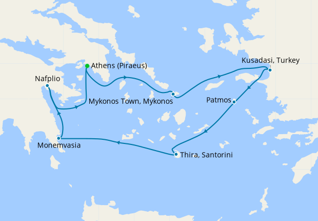 Treasures of the Greek Isles - Athens Roundtrip