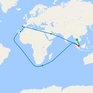 Bangkok to Vietnam, Malaysia & Singapore with Stays