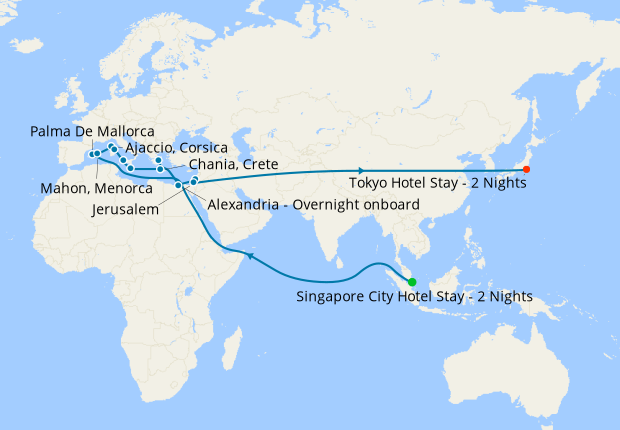Singapore, Vietnam, Hong Kong & Taiwan to Japan with Stays
