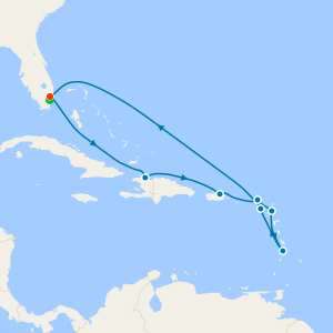 Southern Caribbean from Ft. Lauderdale with Miami Stay