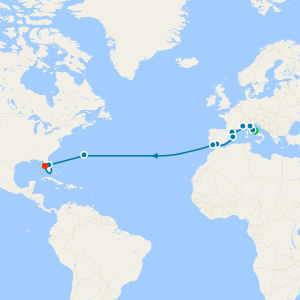 Transatlantic to Tampa from Rome with Stay