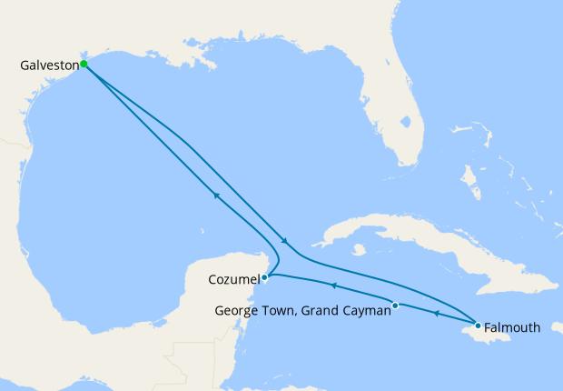 Western Caribbean from Galveston