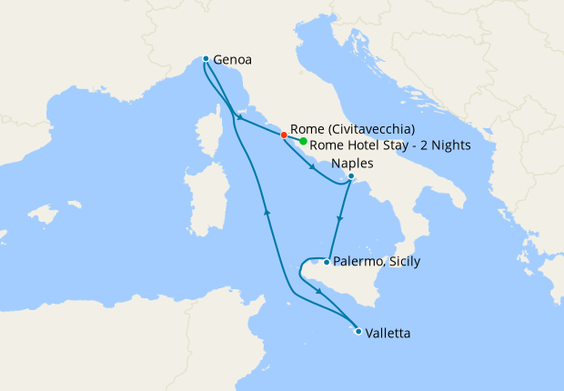 Italy, Malta, Spain & France from Rome with Stay, 5 ...