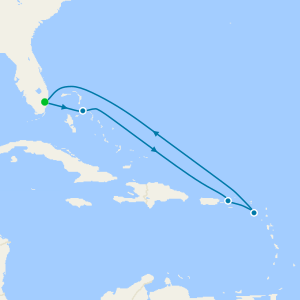 Eastern Caribbean from Ft. Lauderdale